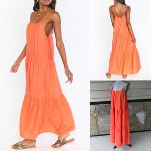 Show Me Your Mumu May Coral Maxi Dress Size Small